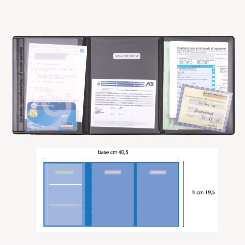 Porta libretto a 3 ante personalizzato flaminia - Porta a libretto ...