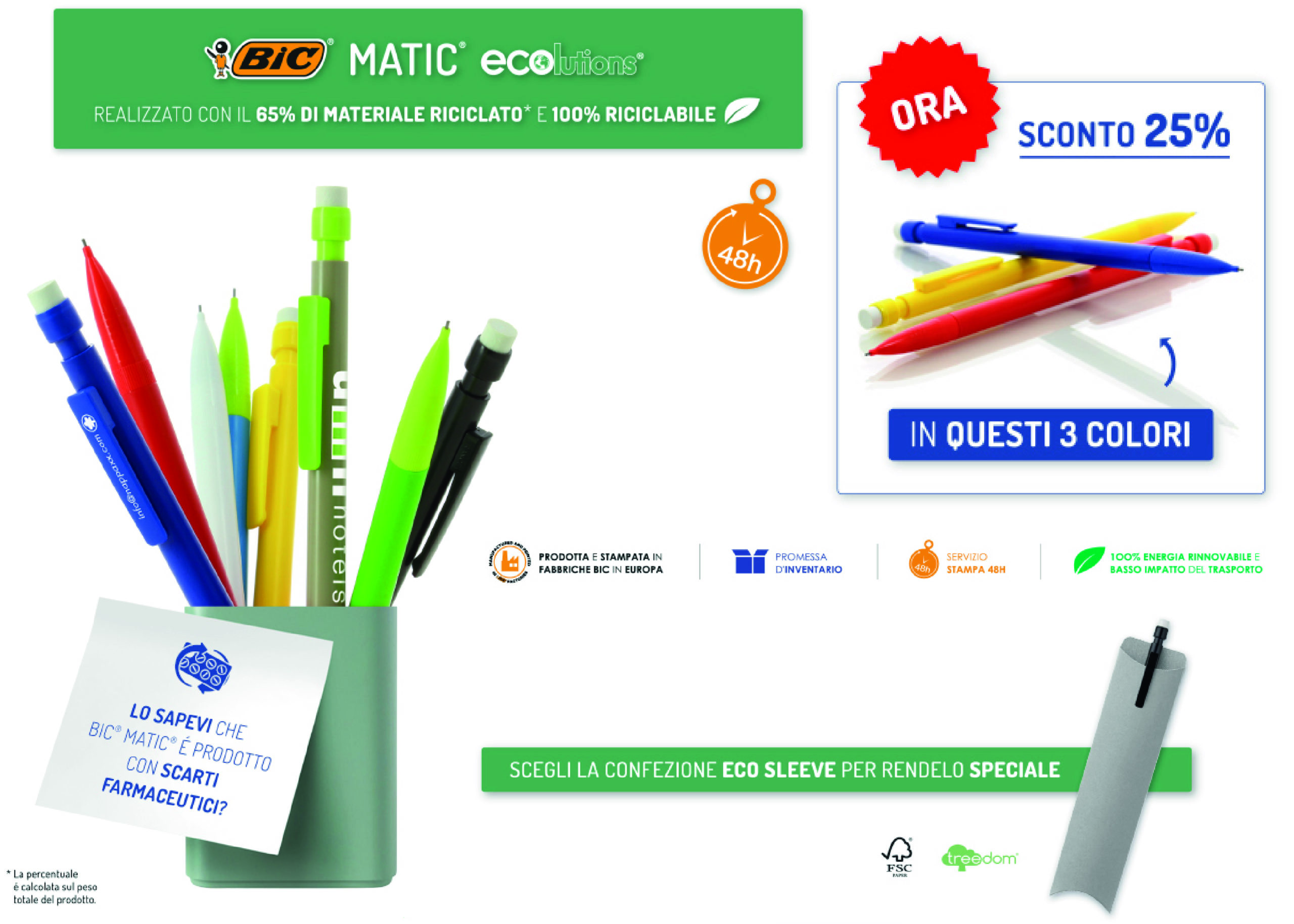 Offerta matite ecologiche BIC