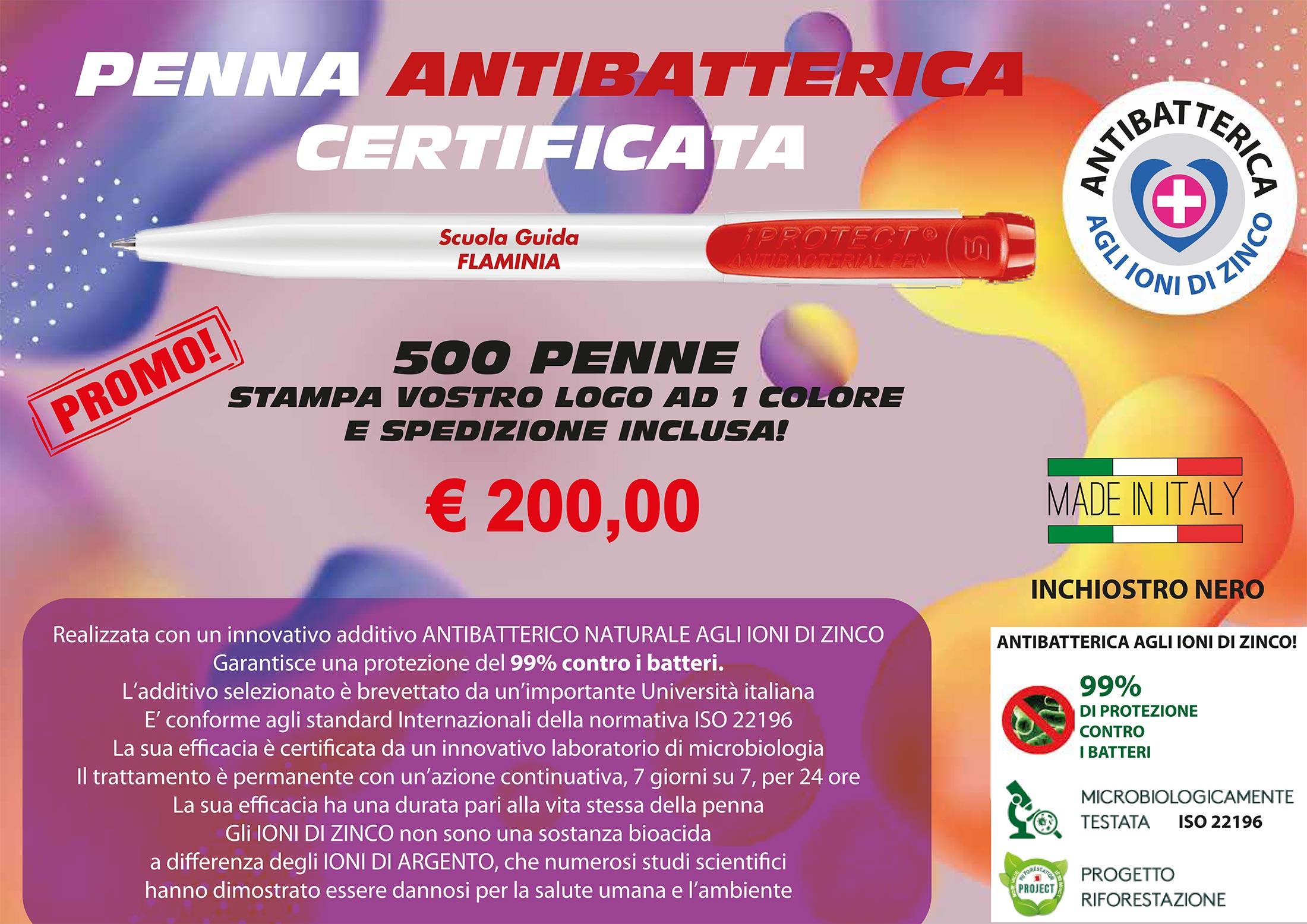 Penna antibatterica certificata